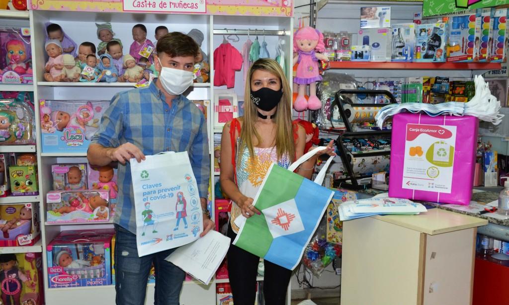 """La iniciativa """"Eco Comercios"""" del municipio, sumó el acompañamiento de la"""