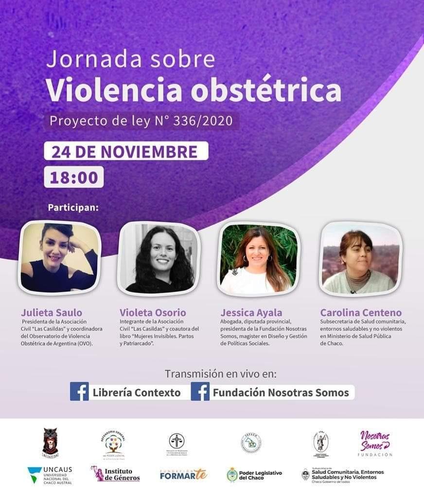 El martes 24 habrá una jornada sobre el  proyecto de ley  de violencia obstétrica