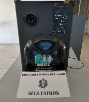 Pampa del Indio: un equipo musical fue restituidos a su dueño.