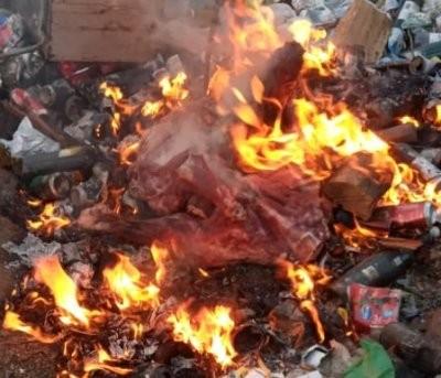 Lo demoran con 30 kilos de carne vacuna que luego fue incinerada