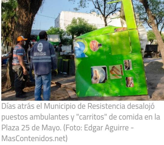 Resistencia: Comerciantes y empresarios respaldaron las gestiones para erradicar la venta ilegal.