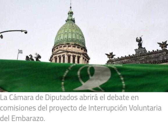 Diputados comienza a debatir en comisiones el proyecto de legalización del aborto.