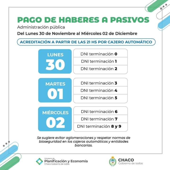 Mañana comienza el cronograma de pagos para la Administración Pública Provincial.