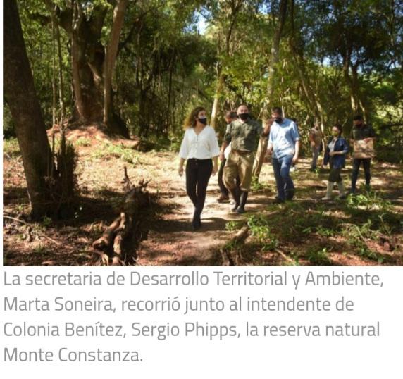Trabajan en el fortalecimiento institucional de la reserva Monte Constanza en Colonia Benítez.