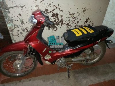 Resistencia: lo detuvieron con una motocicleta que fue robada.