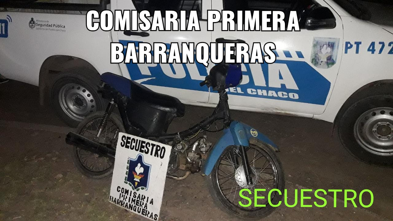 Barranqueras: recuperan motocicletas durante operativos de prevención