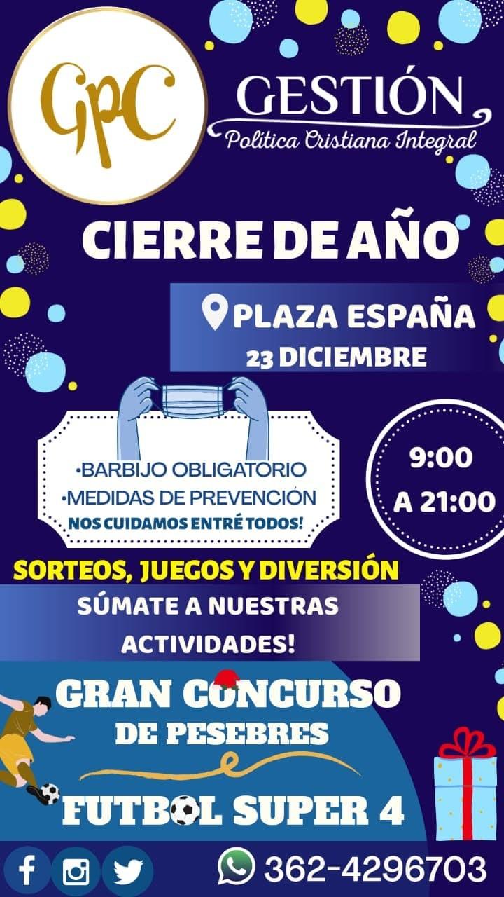 Niños y adolescentes cierran el año en plaza España con torneo de fútbol 4 y concurso de pesebres